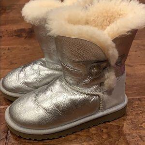 UGG metallic silver boots